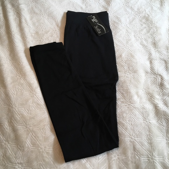 c692ee15faaa38 Sofra Pants | Plus Size Fleece Lined Black Leggings | Poshmark